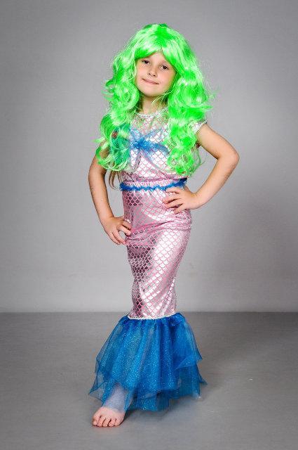 Карнавальный костюм для девочки Русалка розового цвета 30-36 р