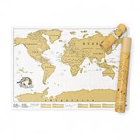 Скретч карта мира Scratch Map Luckies, фото 1