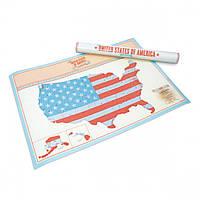 Стирающаяся скретч-карта США Scratch Map USA Edition Luckies, фото 1