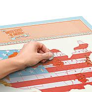 Стирається скретч-карта США Scratch Map USA Edition Luckies, фото 2
