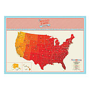 Стирається скретч-карта США Scratch Map USA Edition Luckies, фото 3
