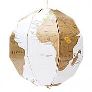 Скретч глобус 3D World Map Scratch Globe Luckies, фото 5