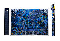 Морская скретч-карта мира My Map Discovery edition (английский язык) в тубусе + постер с флагами, фото 1