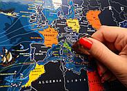 Морская скретч-карта мира My Map Discovery edition (английский язык) в тубусе + постер с флагами, фото 4