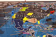 Морская скретч-карта мира My Map Discovery edition (английский язык) в тубусе + постер с флагами, фото 5