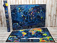 Морская скретч-карта мира My Map Discovery edition (английский язык) в тубусе + постер с флагами, фото 7