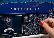 Морская скретч-карта мира My Map Discovery edition (английский язык) в тубусе + постер с флагами, фото 8