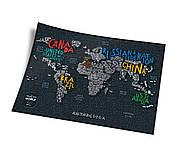 Стирається скретч карта світу Travel Map Letters World (англійська мова) в тубусі, фото 3