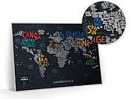 Стирається скретч карта світу Travel Map Letters World (англійська мова) в тубусі, фото 5
