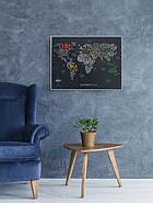 Стирається скретч карта світу Travel Map Letters World (англійська мова) в тубусі, фото 6