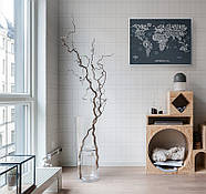 Стирається скретч карта світу Travel Map Letters World (англійська мова) в тубусі, фото 7