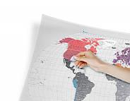 Прозора скретч карта світу Travel Map World AIR (англійська мова) в тубусі, фото 5