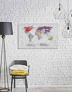 Прозора скретч карта світу Travel Map World AIR (англійська мова) в тубусі, фото 6