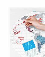 Прозора скретч карта світу Travel Map World AIR (англійська мова) в тубусі, фото 10