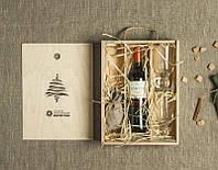 """Подарочный бокс """"Новогодний набор для глинтвейна"""" в деревянной упаковке, коробке с Вашей гравировкой"""