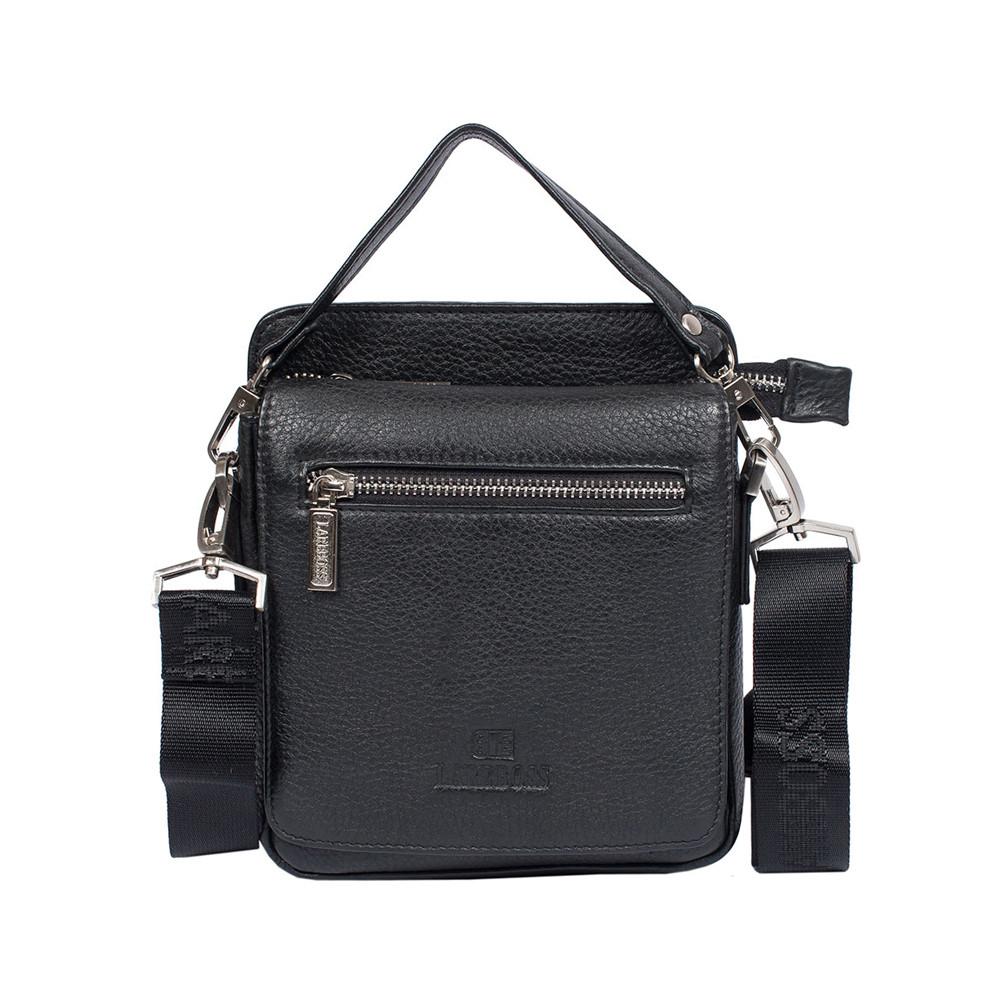6796bec67826 Мужская кожаная сумка Lare Boss M83003-2 черная (20х17,5х5 см), цена ...