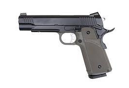 Страйкбольный пистолет KP-05 (green gas) - olive [KJ WORKS] (для страйкбола)
