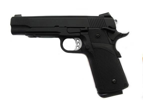 Страйкбольный пистолет KP-05 (green gas) - black [KJ WORKS] (для страйкбола), фото 2