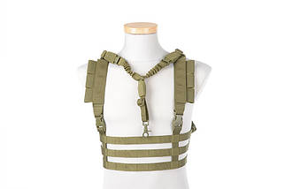 Жилет тактический (разгрузочный) Chest Rig типа Low Profile - olive [GFC Tactical] (для страйкбола), фото 2
