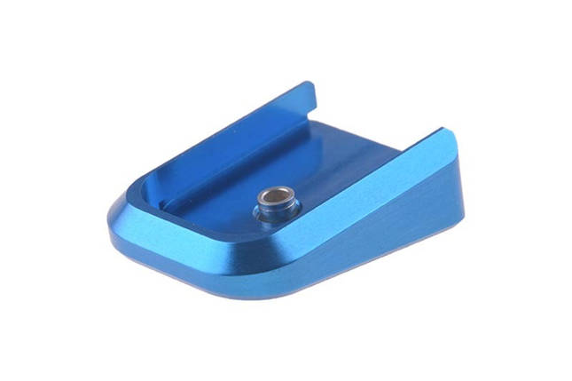 Aluminiowa stopka magazynka Marui 5.1 (HC) - niebieska [Airsoft Masterpiece], фото 2