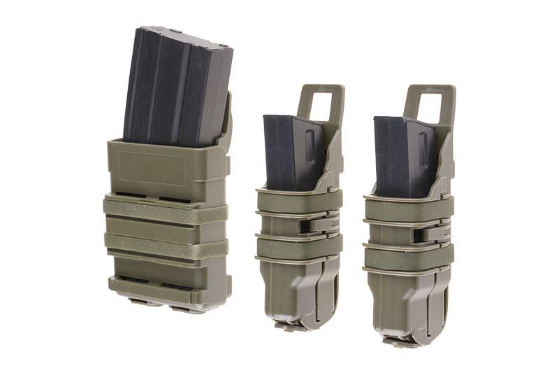 Набор подсумков Open III (2 XS+1 M) для магазинов pistoletowe + 5,56 - olive [Primal Gear] (для страйкбола)
