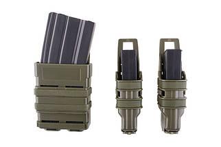 Набор подсумков Open III (2 XS+1 M) для магазинов pistoletowe + 5,56 - olive [Primal Gear] (для страйкбола), фото 3