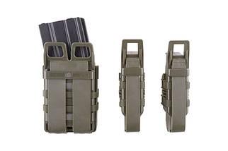 Набор подсумков Open III (2 XS+1 M) для магазинов pistoletowe + 5,56 - olive [Primal Gear] (для страйкбола), фото 2