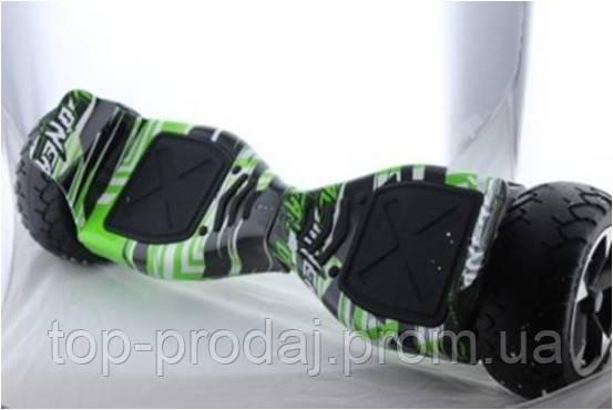 "Гироборд 8.5"" HM №1 Зеленное граффити (АКБ Samsung), Гироскутер внедорожник, Гироборд для новичка"
