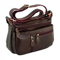 8cae2ee768e0 Бордовая женская сумка из кожи через плечо Traum арт. 7322-22. В наличии