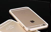 Бампер для Iphone 6/6S силиконовый золотой