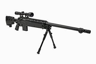 Страйкбольная винтовка снайперская MB4407D - с оптикой и сошками [WELL] (для страйкбола), фото 3
