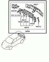 Панель задня Mitsubishi Grandis 2008 р. в. MN150738
