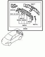 Панель задняя Mitsubishi Grandis 2008 г.в. MN150738