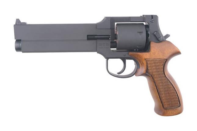 Реплика револьвера Mateba X-Cartridge (Heavy Weight / Wooden Grip) [Marushin] (для страйкбола), фото 2