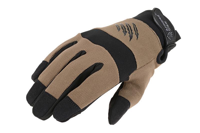 Тактические перчатки Armored Claw Shooter Cold Weather - half tan [Armored Claw] (для страйкбола)