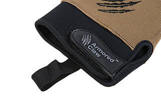 Тактические перчатки Armored Claw Shooter Cold Weather - half tan [Armored Claw] (для страйкбола), фото 3