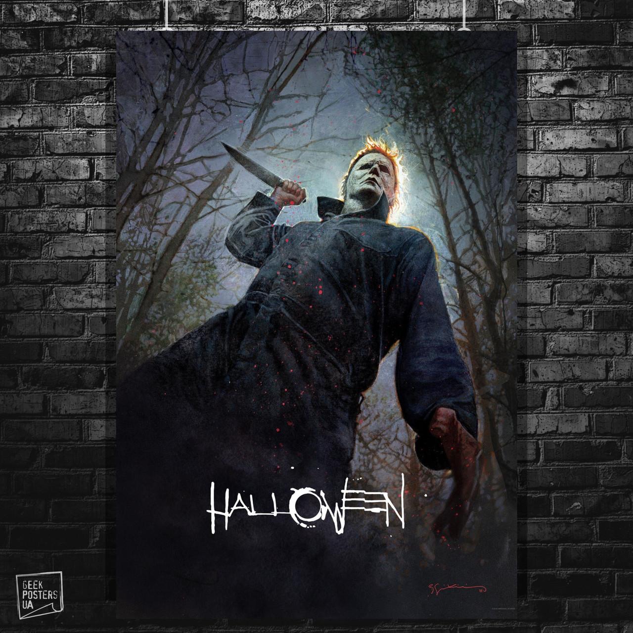 Постер Хэллоуин / Halloween (2018). Размер 60x42см (A2). Глянцевая бумага