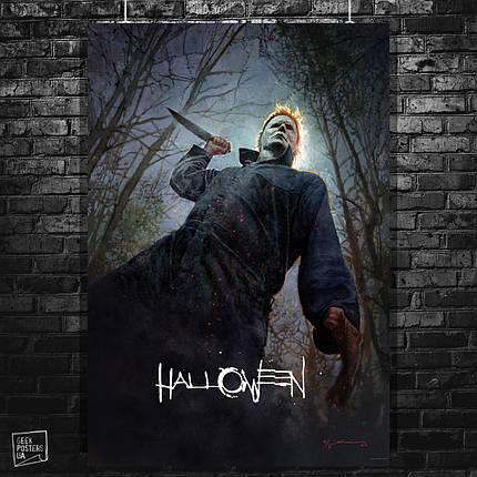 Постер Хэллоуин / Halloween (2018). Размер 60x42см (A2). Глянцевая бумага, фото 2