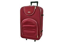 Дорожній валізу на колесах Siker Lux Бордовий Середній