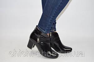 Ботильоны женские Alamo 7-85 чёрные кожа каблук