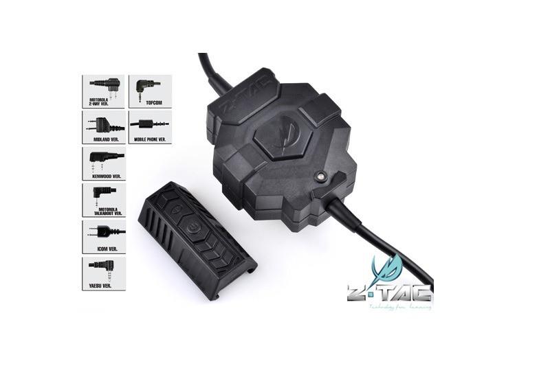 Bezprzewodowy przycisk PTT ZTac (Z123-MOT-2) [Z-Tactical]