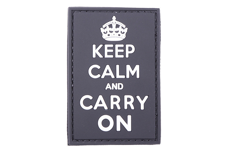 Нашивка 3D - Keep Calm And Carry On - black [GFC Tactical] (для страйкбола)