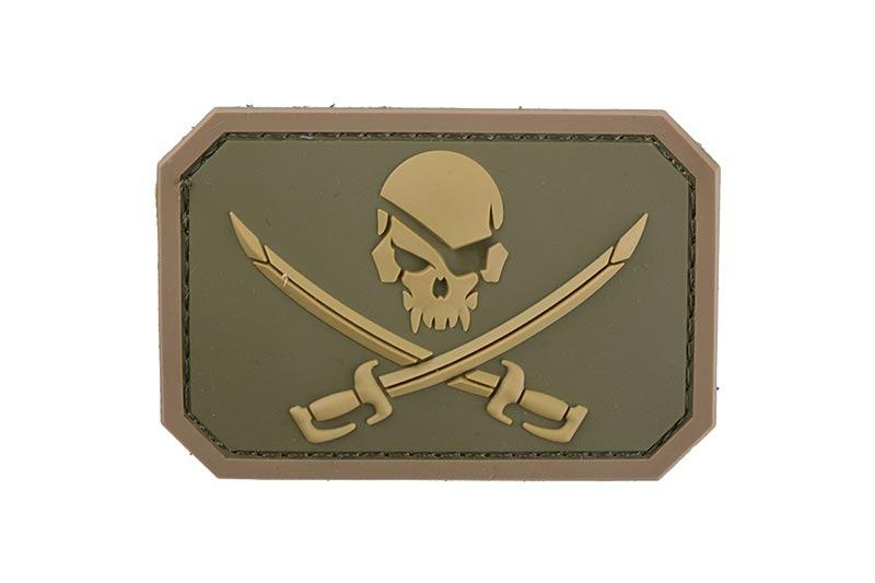Нашивка Pirate Skull PVC - Multicam [MIL-SPEC MONKEY] (для страйкбола)