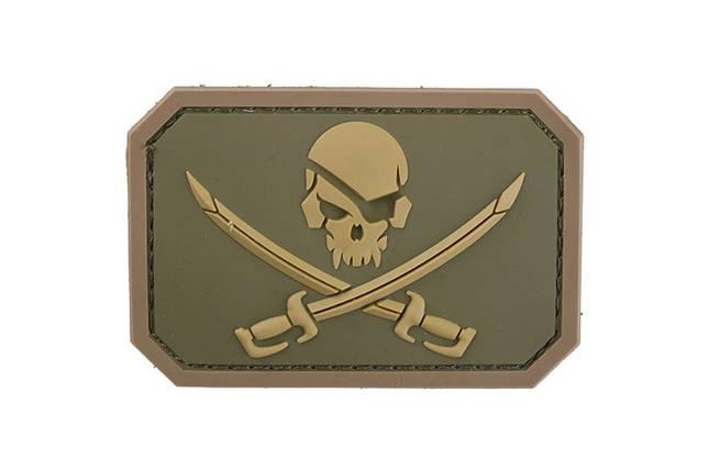 Нашивка Pirate Skull PVC - Multicam [MIL-SPEC MONKEY] (для страйкбола), фото 2