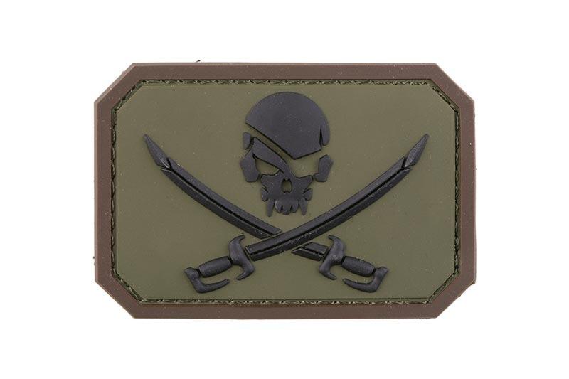 Нашивка Pirate Skull PVC - Forest [MIL-SPEC MONKEY] (для страйкбола)