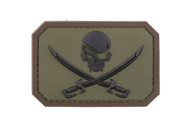 Нашивка Pirate Skull PVC - Forest [MIL-SPEC MONKEY] (для страйкбола), фото 2