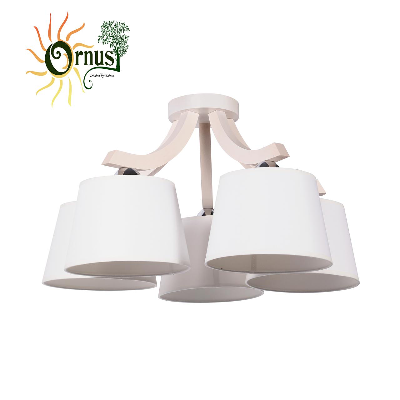 Потолочный светильник ORNUS OS-1974515LW Ecoline дерево/ткань