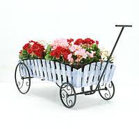 Подставка для цветов Телега 1 Кантри., фото 1
