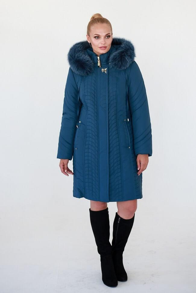 ee4a7609445 Купить сейчас - Зимнее пальто Waukeen Лиля Синий  1 400 грн ...