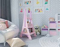 Книжный шкаф для книг и игрушек Eiffel Tower (Paris, France), Натуральное дерево, (Pink), Коллекция Romantic
